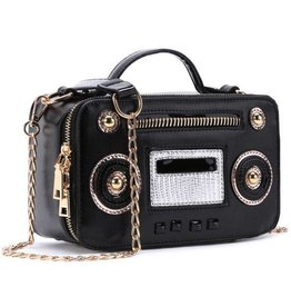 Fantasy bag Retro Radio Black