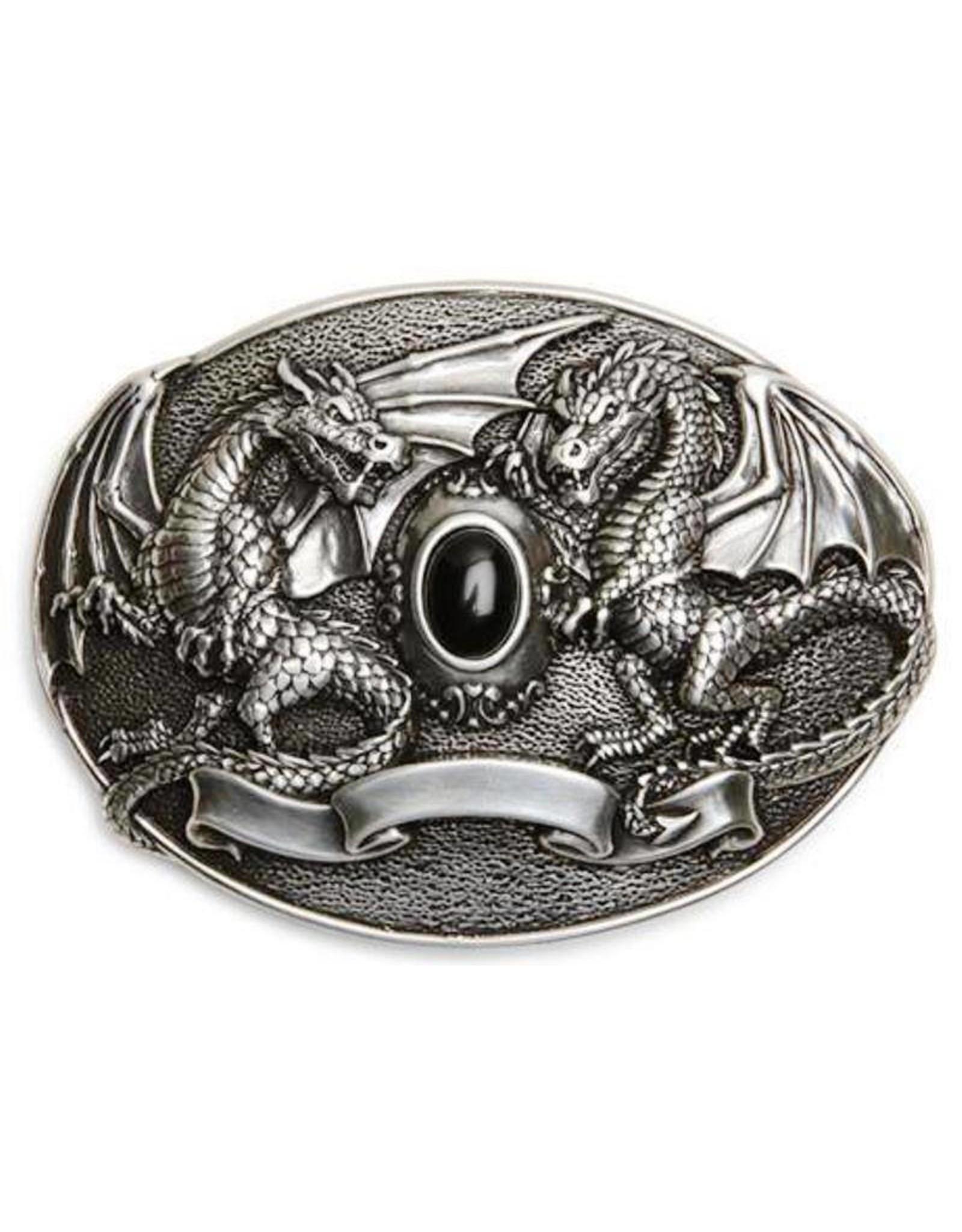 Acco Leren riemen en buckles - Buckle Black Dragon
