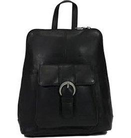 Bear Design Leather Backpack Black B6265