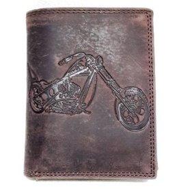 Trukado Leather Wallet with Bike print
