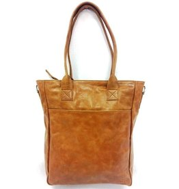 Bear Design Leather Bag Cognac Bear Design