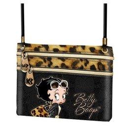Betty Boop schoudertasje luipaard