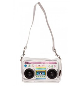 Jawbreaker Boombox white stereo with real speakers