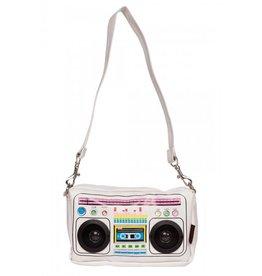 Jawbreaker Boombox wit stereo met echte speakers