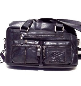 GAZ Leather Shoulder Bag Black GAZ