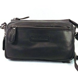 HillBurry HillBurry leather shoulder bag black HB1613Z