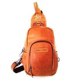 HillBurry Hillburry leather backpack cognac