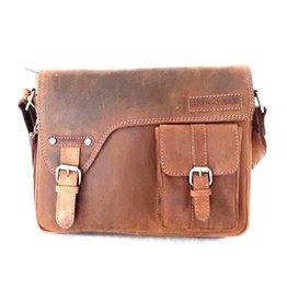 HillBurry Hillburry leather shoulder bag vintage brown