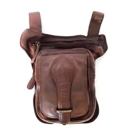 HillBurry Hillburry belt bag - leg bag washed leather brown