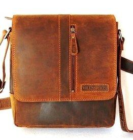 Hillburry leather shoulder bag brown 6309