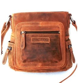 Hillburry leather shoulder bag tan 6312