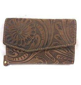 HillBurry Leather Wallet 1309F-dbr