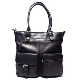 HillBurry Leather Shoulder Bag Black HillBurry 3105bl
