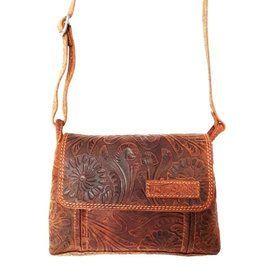 Hillburry leather shoulder bag 3182f-br