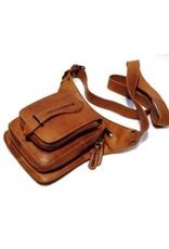 HillBurry Leather bags - HillBurry Crossbody Bag cognac