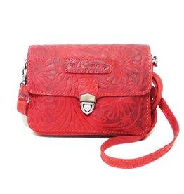 Hillburry leather shoulder bag 3279f-rd