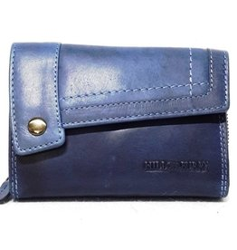 HillBurry Hillburry leather wallet blue