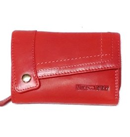 Hillburry leather wallet red 3698rd