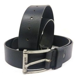 HillBurry Leather Belt HillBurry - black, 85cm