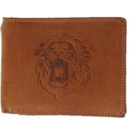 Leather wallet Lion