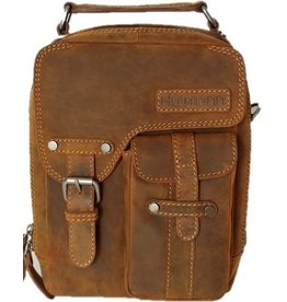 Huttman Hütmann leather shoulder bag brown 3060