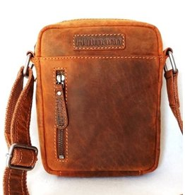 Huttman Hütmann leather shoulder bag brown 3169