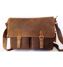 Hunters leather laptop bag 616090