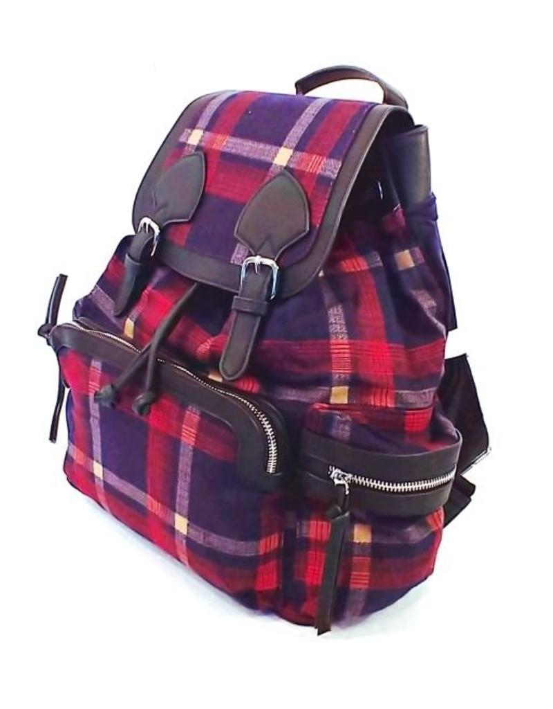 1c53d9db2ff Retro tassen Vintage tassen - Tartan rugzak rood blauw ...