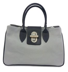 Kevim Kevim Leather Hand bag Grey 1602