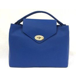 Leslly Leather Hand bag Blue 2002