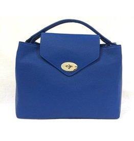 Leslly Leslly Leather Hand bag Blue 2002