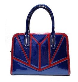 Xuna Handbag Bleu Lacquer