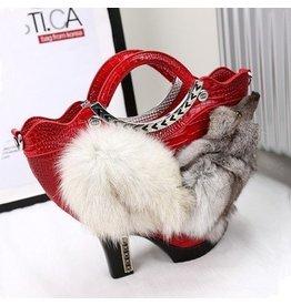 Fantasy tas Schoen met vosje rood