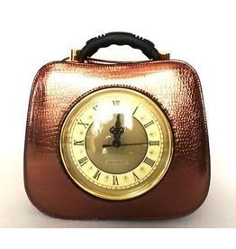 Retro bag  with working clock