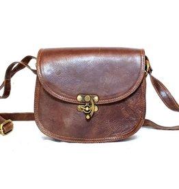 Leather steampunk bag tan