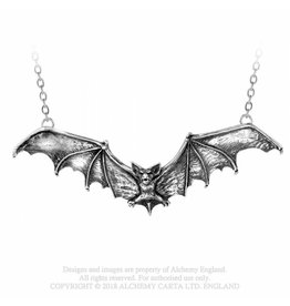 Alchemy Uitverkocht - Gothic ketting en hanger vleermuis