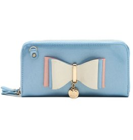 Wallet Shoulder Bag with bow LYDC London blue