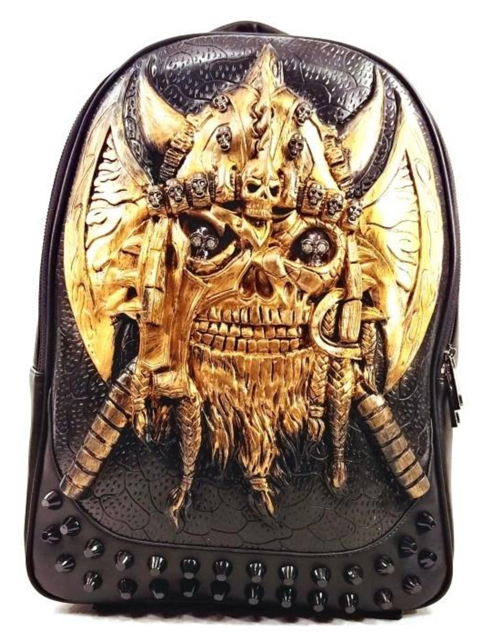 Dark Desire Gothic tassen Steampunk tassen - Gothic 3D rugzak Viking brons