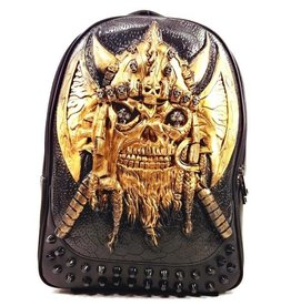 Dark Desire Gothic 3D backpack Viking bronze