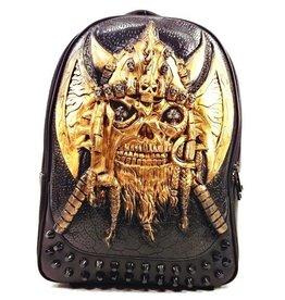 Dark Desire Gothic 3D rugzak Viking brons