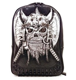 Dark Desire Gothic 3D backpack Viking silver