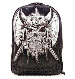 Dark Desire Gothic 3D rugzak Viking zilver