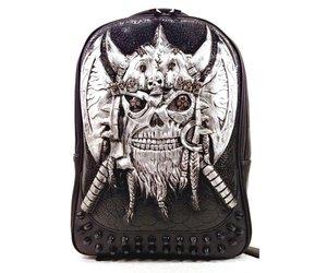 21ac17d3117 Dark Desire Gothic 3D rugzak Viking zilver - Tassenboetiek Trukado