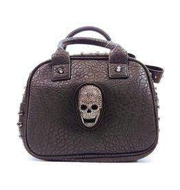 Dark Desire Gothic handbag with skulls and studs