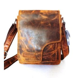 Roberto leather shoulder bag brown 8959