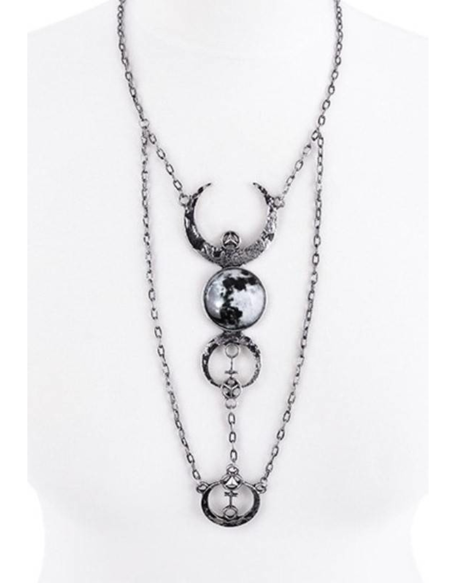 Restyle Wicca en Gothic accessoires - Full Moon Collier Restyle
