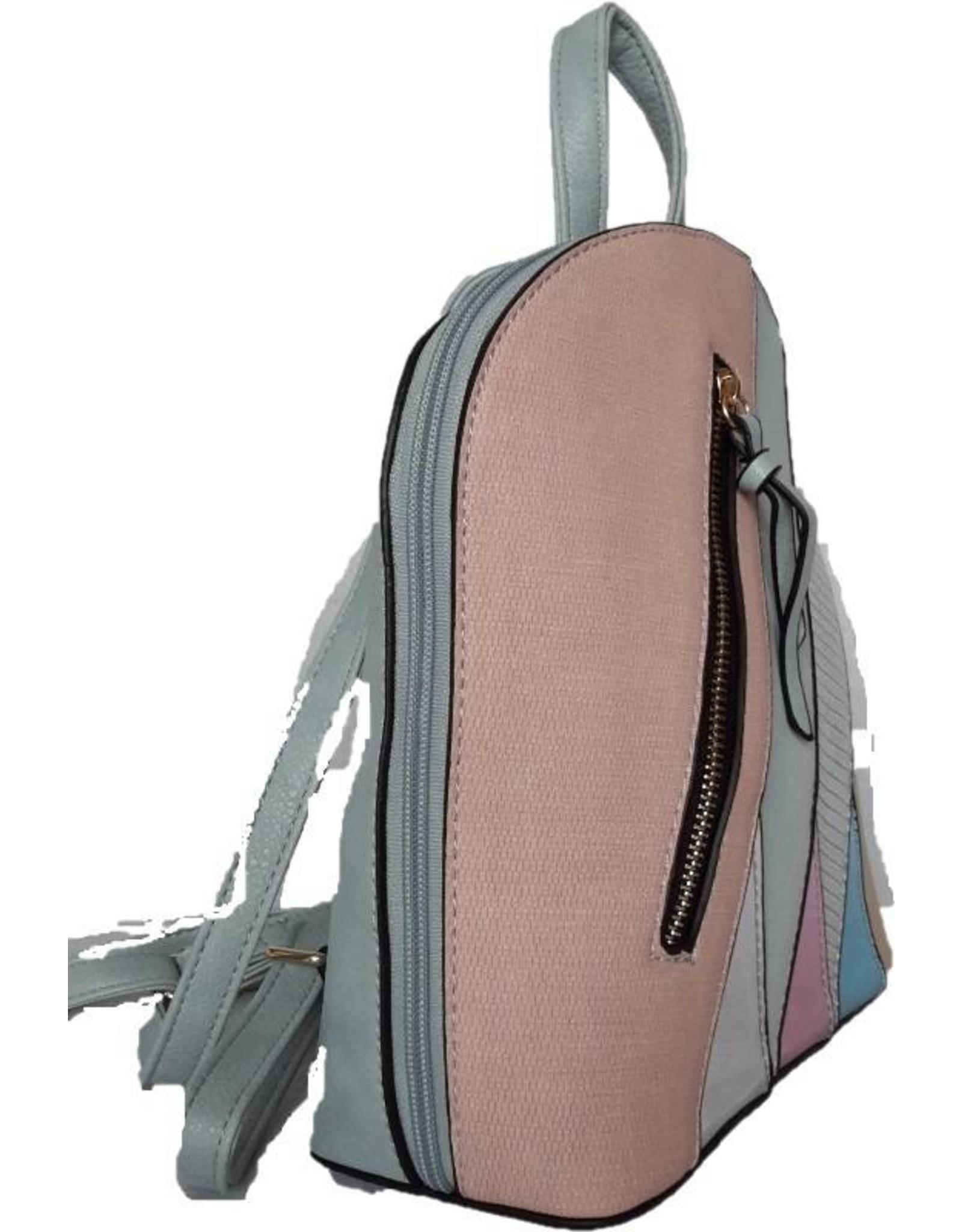 Rugzakken en heuptassen - Modieuze rugzak met holografische accenten roze