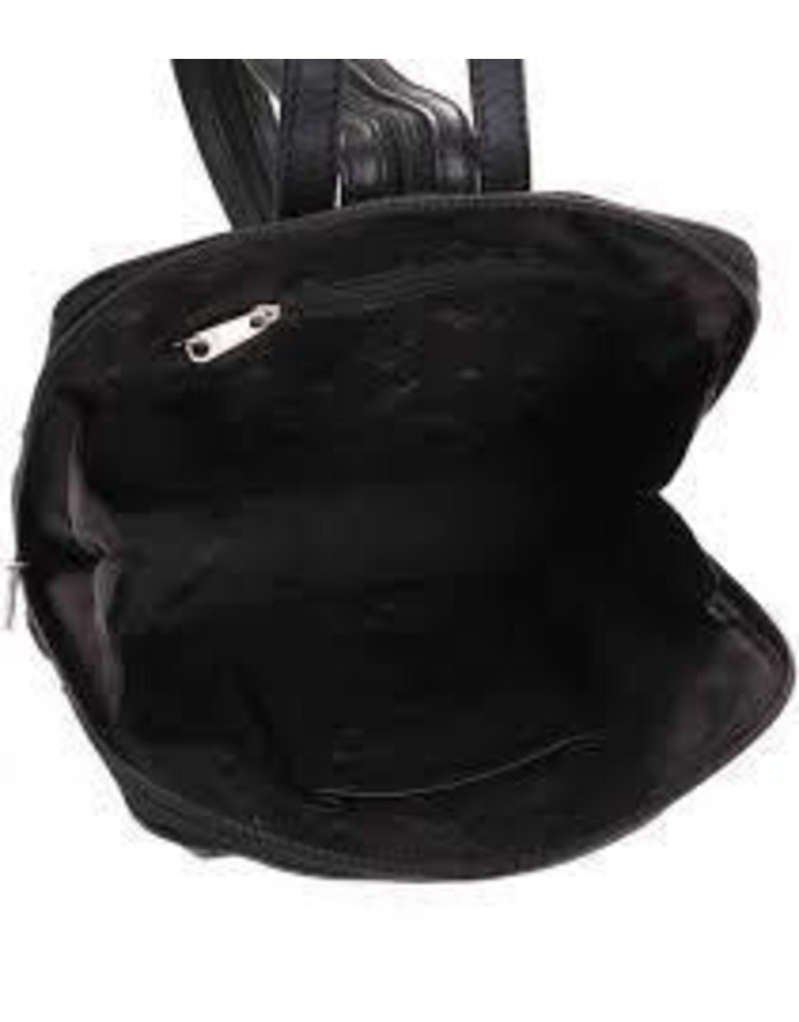 Bear Design Leather backpacks - Bear Design Leather Backpack Black B6265