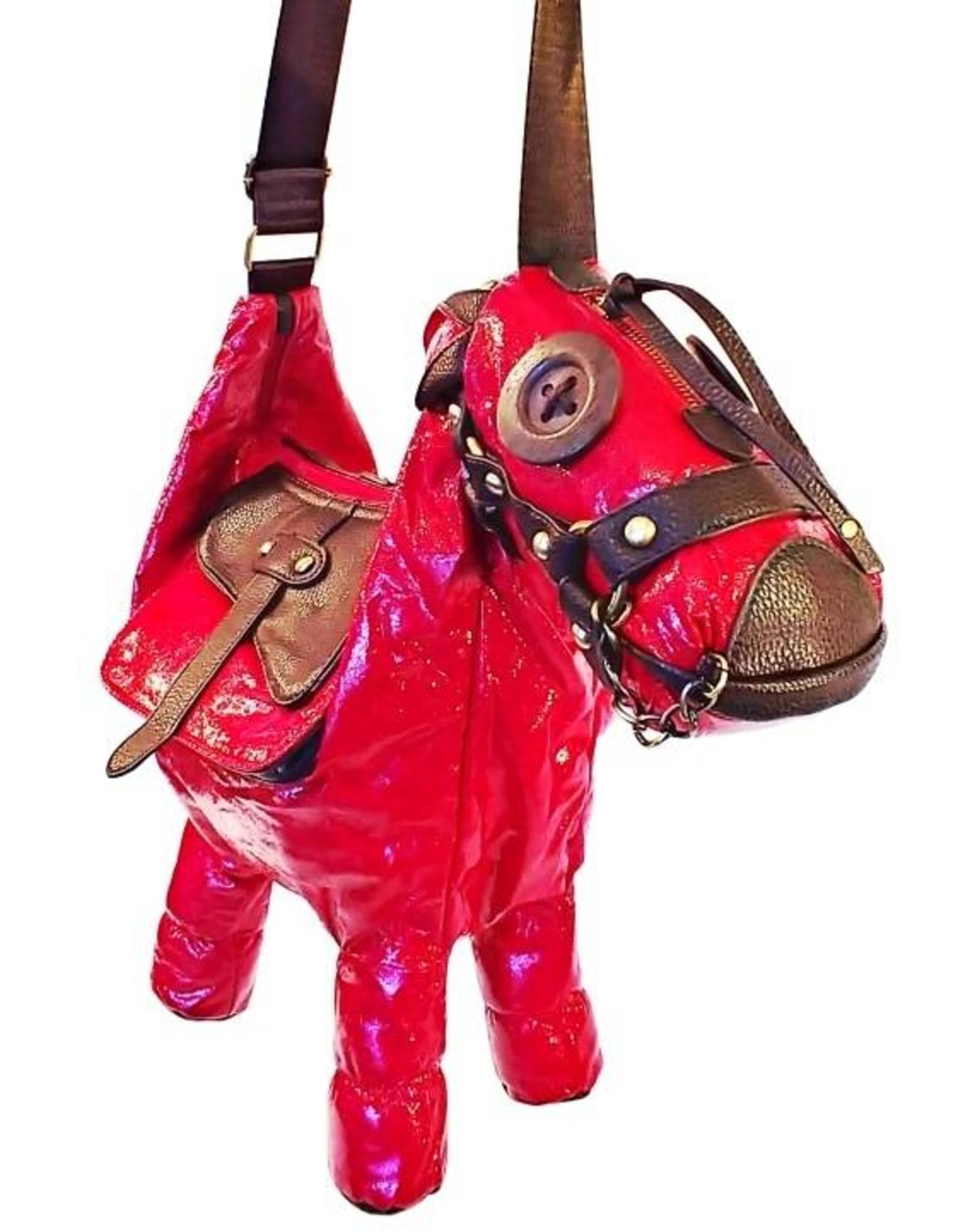 Trukado Fantasy tassen - Vintage tassen - Fantasy tas Ezel rood