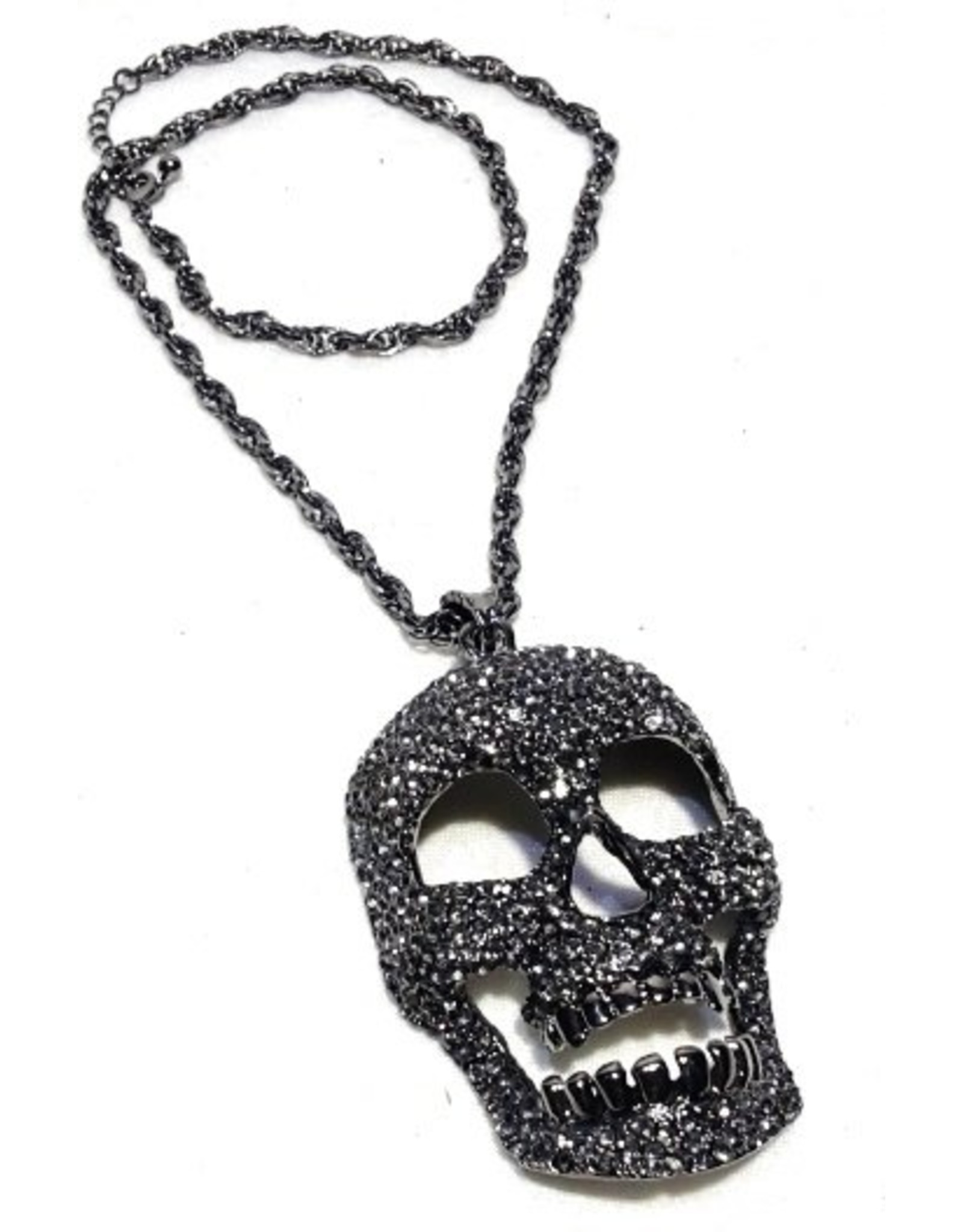 Gothic en Cult accessoires - Gothic Schedel  Ketting Groot